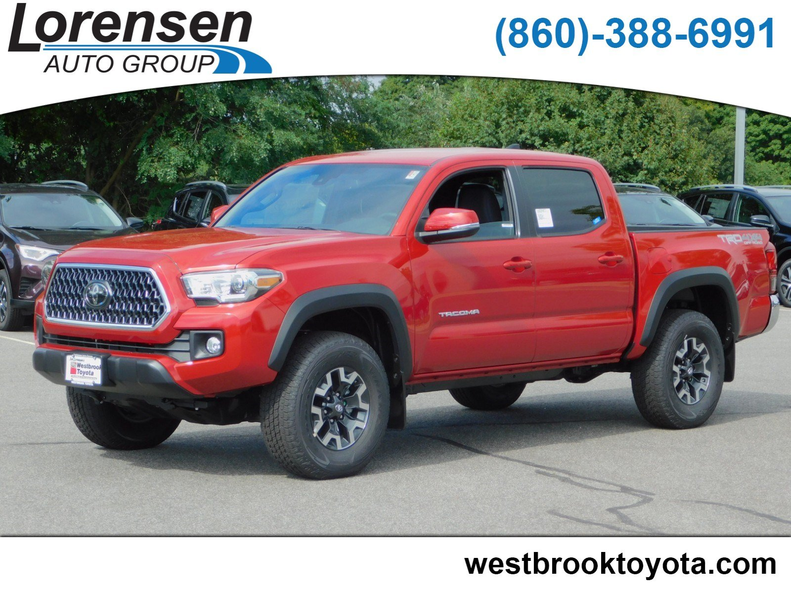 New 2018 Toyota Tacoma Sr Double Cab In Westbrook 18772 Long Bed Fuel Hostage Wheels Wheel Drive