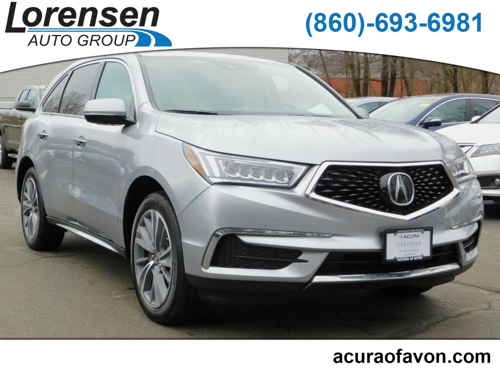 Pre Owned 2017 Acura MDX w Technology Pkg Sport Utility in Westbrook